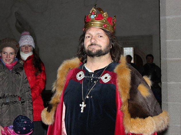 Královský advent na Křivoklátě pan král.