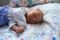 MIKULÁŠ SVEJKOVSKÝ, NIŽBOR. Narodil se 5. února 2019. Po porodu vážil 3,3 kg. Rodiče jsou Žaneta a Jaroslav. Bratr Jaroušek.