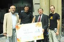 Předání ceny za rozvoj cykloturistiky