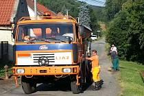 Oprava cesty v Mutějovicích