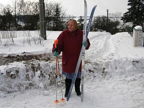 Kroučová byla na lyžích