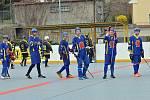 Z hokejbalového utkání druhé ligy Nové Strašecí - Mladá Boleslav (6:1)