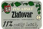 Takto vypadala v 80. letech minulého století pivní etiketa jedenáctky Polabský Zlatovar.