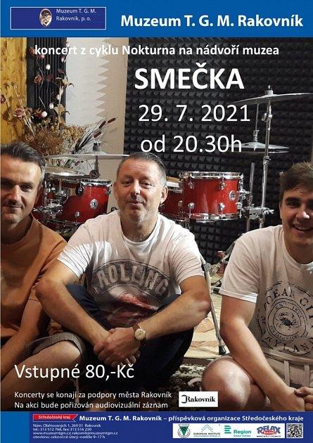 Kapela Smečka - plakát na koncert vRakovníku.