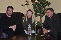 Olivia Prokopová se svými trofejemi