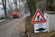 Dostavba kanalizace v Novém Strašecí v Nádražní ulici.