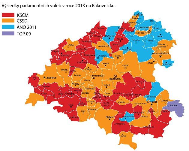 Na Rakovnicku jsou již volební hlasy zhruba hodinu sečtené. Zatímco vroce 2013dominovala na Rakovnicku oranžová a rudá barva, nyní je vše jinak - Rakovnicko se zahalilo do modré. Podívejte se, jak politicky 'proměnilo' Rakovnicko oproti předchozím parla