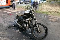 Požár motocyklu
