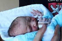 OLDŘICH MAI, ŘEVNIČOV. Narodil se 21. ledna 2020. Po porodu vážil 4,07 kg. Rodiče jsou Petra a Oldřich.