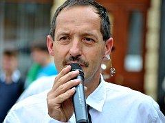 Milan Sunkovský při zahájení Rakovnického cyklování v roce 2012