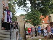 Slavnostní otevření nově zrekonstruované děkovské fary, která bude sídlem obecního úřadu.