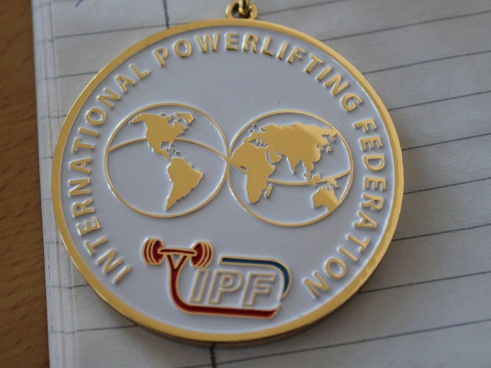 Medaile mistryně světa Adiny Hykové