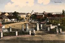 Pohled ze dvora statku z roku 1914.