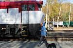 Sobotní slunečný den v železničním muzeu v Lužné.