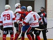 Rakovničtí hokejbalisté prohráli s mistrem extraligy - Kert Parkem Praha 1:3.