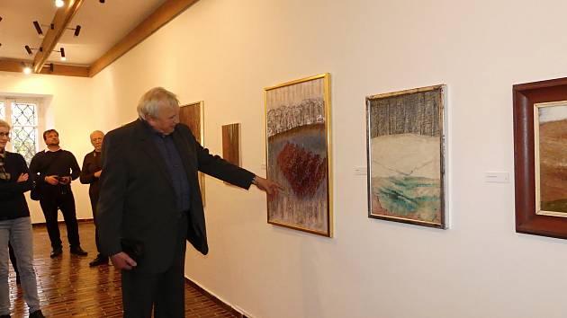 Komentovaná prohlídka výstavy Zdeňka Kříže v Rabasově galerii v Rakovníku.