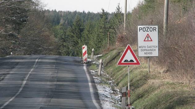 Silnice před Rudou.