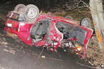Foto z místa tragické nehody