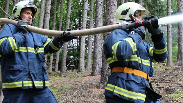 Foto ze zásahu v lese u Lužné