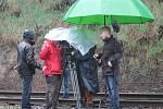 Natáčení videoklipu k písni Dál na vlakovém nádraží v Novém Strašecí