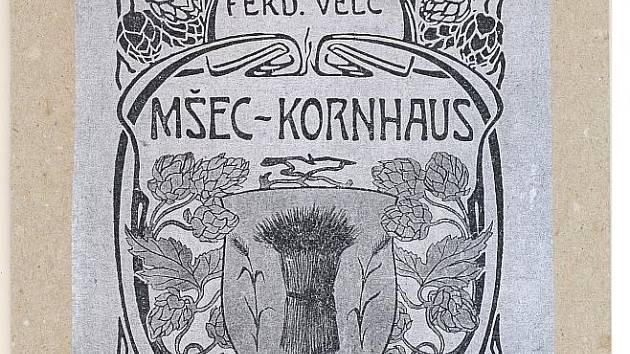 Záhlaví knížky MŠEC–KORNHAUS od F. Velce z roku 1935.