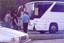 Fotografii z dopravní nehody, která se stala v Řevničově.
