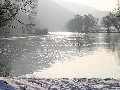Berounka v zimě 2011