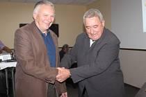 Vladimír Hubáček(vpravo) a Zdeněk Rosa se setkali při oslavě 40 let ACHP Hořesedly