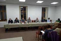 Ustavující zasedání zastupitelstva obce Křivoklát.