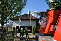 Zásah rakovnických hasičů.