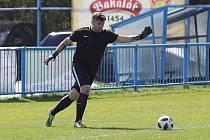 Z fotbalového utkání okresního přeboru Mšec - Zavidov B (1:2). Ilustrační foto