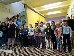 Vítání prvňáčků v šanovské základní škole.