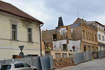 Bourací práce na stavbě Víceúčelového studijního a společenského centra v Rakovníku.