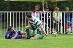 Z divizního fotbalového utkání Tatran Rakovník - Slaný (1:3).