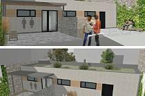 Vizualizace nových veřejných toalet v Novém Strašecí.