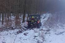 Zásah hasičů u vlaku v Mutějovicích.