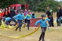 Ve Velké Chmelištné se uskutečnila soutěž děti v požárním útoku s názvem Drahuščin pohár.