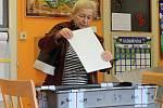 Komunální volby v sobotu. Volební místnost v MŠ Klicperova.