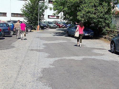 Oprava parkoviště u sokolovny