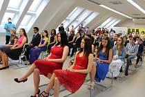 V nových prostorách školy se už letos v červnu uskutečnilo slavnostní vyřazení žáků, absolventů.