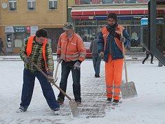 První sníh v Rakovníku leden 2014