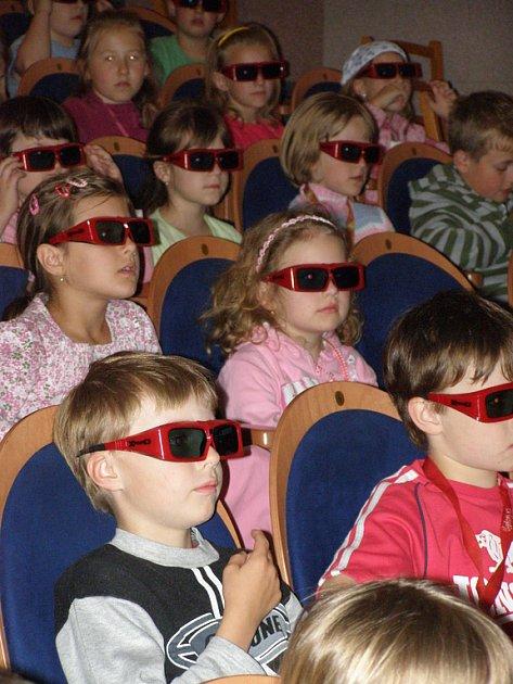 Děti si užívaly filmový zážitek.