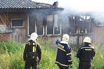 Požár u Vysoké brány v Rakovníku