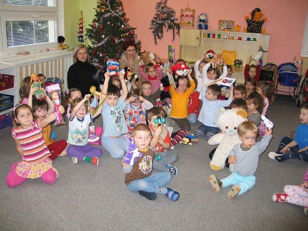 Radost dětí z dárků