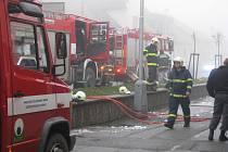 Požár dílny v Novém Strašecí
