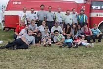 Družstvo hasičů z Čisté na Memoriálu J. Uvíry ve Velké Chmelištná 2013