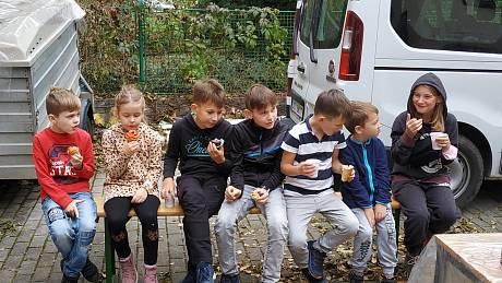 Halloweenské dílničky v Domě dětí a mládeže v Rakovníku.