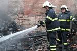 Požár stodoly v Kalivodech