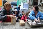 Děti na příměstském táboře v Novém Strašecí jedou na výlet na Křivoklátsko.