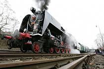 Parní lokomotiva přezdívaná Šlechtična.